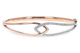 G235-43988: BANGLE BRACELET .50 TW (ROSE & WG)